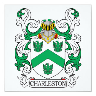 Escudo de armas II de Charleston Invitaciones Personalizada