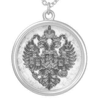 Escudo de armas imperial ruso collar plateado