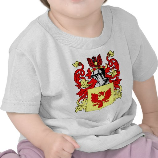 Escudo de armas (inglés) de Custer Camisetas