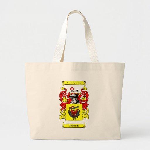 Escudo de armas (inglés) de McDonald Bolsa De Mano