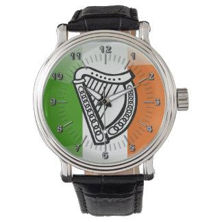Escudo de armas irlandés reloj de pulsera