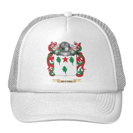Escudo de armas Irving-2 (escudo de la familia) Gorras