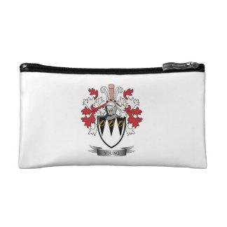 Escudo de armas joven del escudo de la familia bolso de maquillaje
