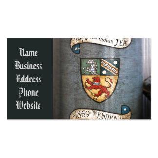 escudo de armas Londres del tarro del té del Tarjetas De Visita