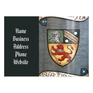 escudo de armas Londres del tarro del té del Tarjetas De Visita Grandes