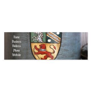 escudo de armas Londres del tarro del té del Tarjetas De Visita Mini