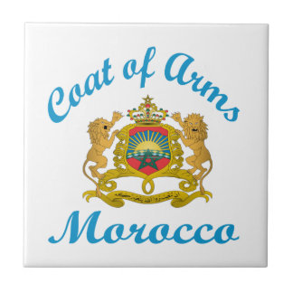 Escudo de armas Marruecos Tejas Cerámicas