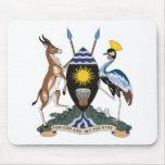 Escudo de armas Mousepad de Uganda Alfombrilla De Raton