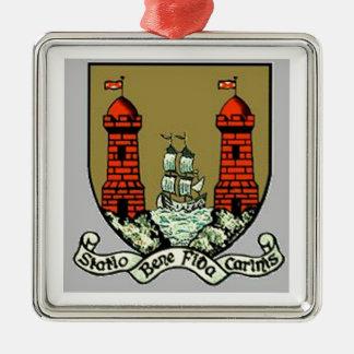 Escudo de armas para el corcho Irlanda Adorno Navideño Cuadrado De Metal