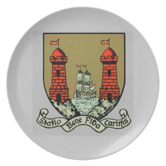 Escudo de armas para el corcho Irlanda Plato De Comida