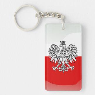 Escudo de armas polaco llavero rectangular acrílico a doble cara