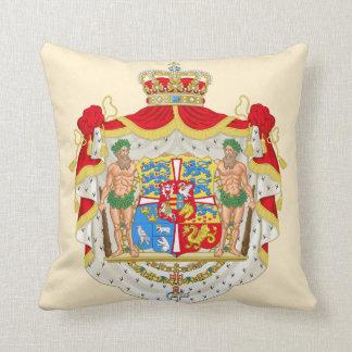 Escudo de armas real danés del vintage de cojín decorativo