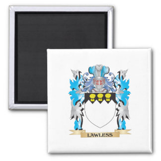 Escudo de armas sin ley - escudo de la familia imán para frigorífico