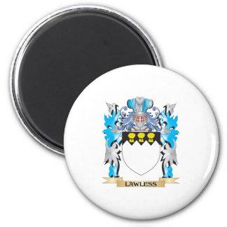 Escudo de armas sin ley - escudo de la familia iman para frigorífico