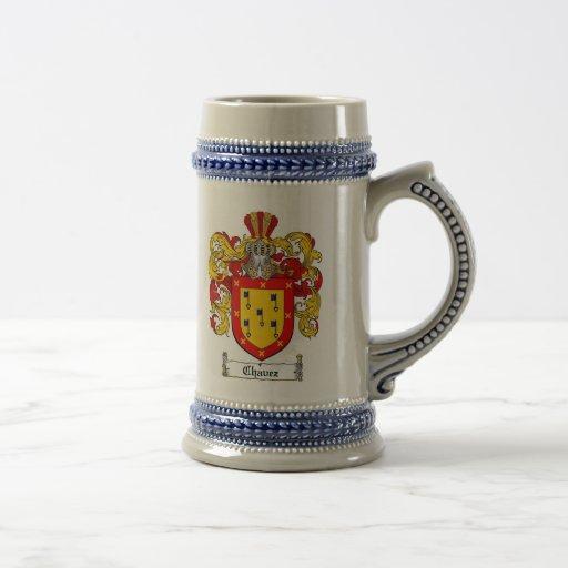 Escudo de armas Stein de Chavez/escudo de la famil Tazas De Café