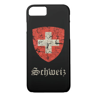 Escudo de armas suizo apenado funda iPhone 7