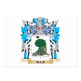 Escudo de armas viejo tarjetas personales