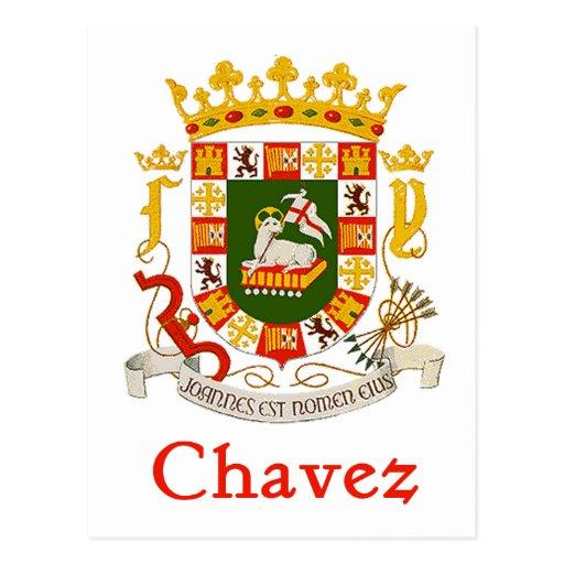 Escudo de Chavez de Puerto Rico Postales