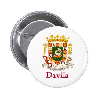 Escudo de Davila Puerto Rico Chapa Redonda De 5 Cm
