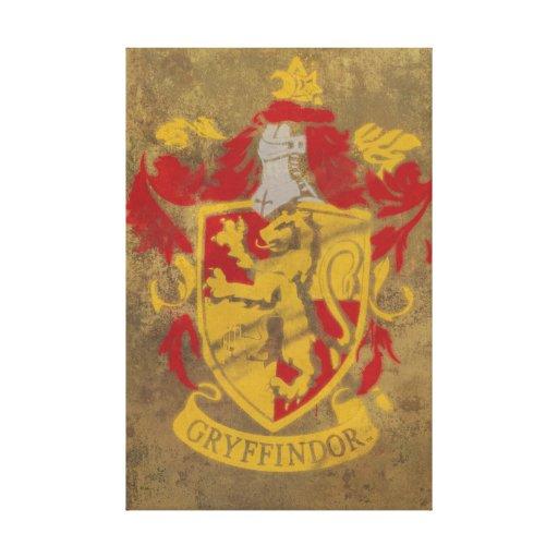 Escudo de Gryffindoor Impresiones En Lona Estiradas