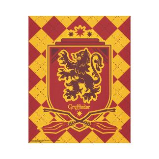Escudo de Harry Potter el   Gryffindor Quidditch Impresión En Lienzo
