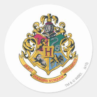 Escudo de Harry Potter el   Hogwarts - a todo Pegatina Redonda