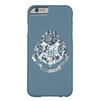 Escudo de Harry Potter el | Hogwarts - azul Funda Barely There iPhone 6