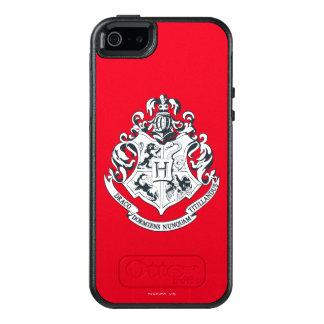 Escudo de Harry Potter el | Hogwarts - blanco y Funda Otterbox Para iPhone 5/5s/SE
