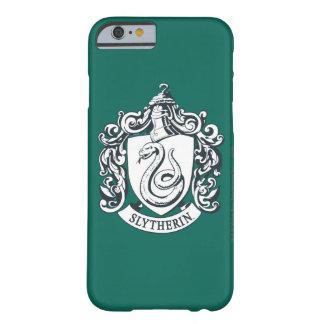 Escudo de Harry Potter el | Slytherin - blanco y Funda Barely There iPhone 6