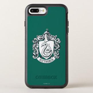 Escudo de Harry Potter el | Slytherin - blanco y Funda OtterBox Symmetry Para iPhone 8 Plus/7 Plus