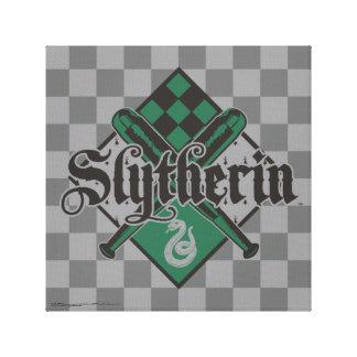 Escudo de Harry Potter el   Slytherin Quidditch Impresión En Lienzo