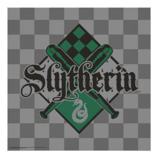 Escudo de Harry Potter el | Slytherin Quidditch Póster