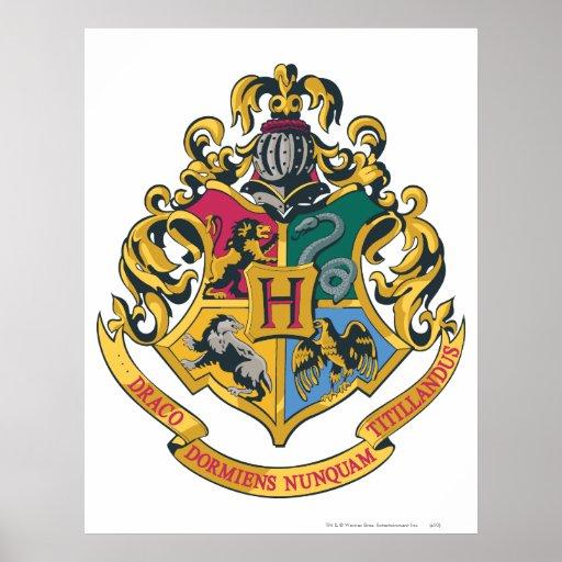 Escudo de Hogwarts a todo color Pu00f3ster : Zazzle