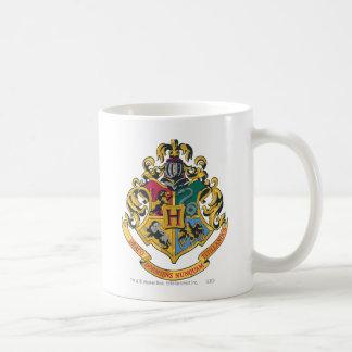 Escudo de Hogwarts a todo color Taza Básica Blanca