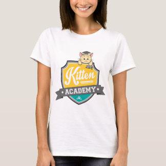Escudo de la academia del gatito camiseta