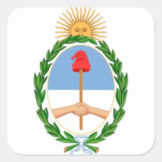 Escudo de la Argentina - escudo de armas de la Pegatina Cuadrada