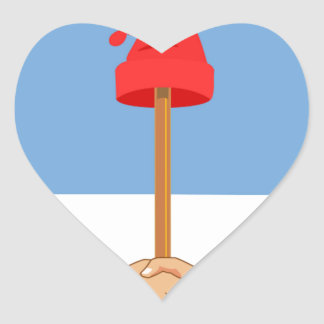 Escudo de la Argentina - escudo de armas de la Pegatina En Forma De Corazón