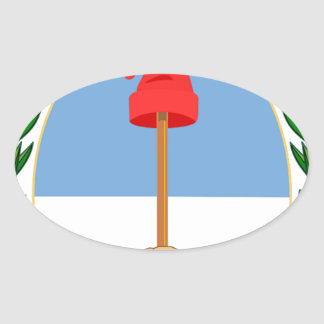 Escudo de la Argentina - escudo de armas de la Pegatina Ovalada