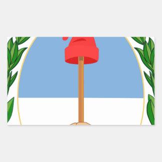 Escudo de la Argentina - escudo de armas de la Pegatina Rectangular