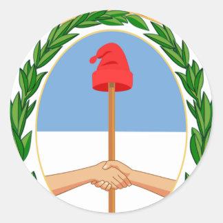 Escudo de la Argentina - escudo de armas de la Pegatina Redonda