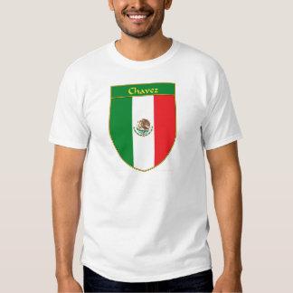 Escudo de la bandera de Chavez México Camisas