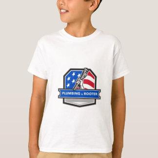 Escudo de la bandera de los E.E.U.U. de la llave Camiseta