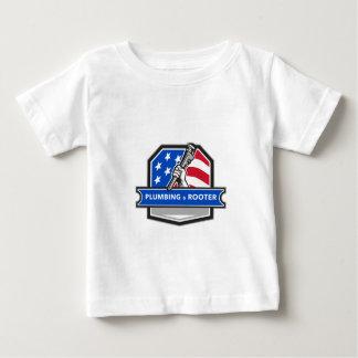 Escudo de la bandera de los E.E.U.U. de la llave Camiseta De Bebé