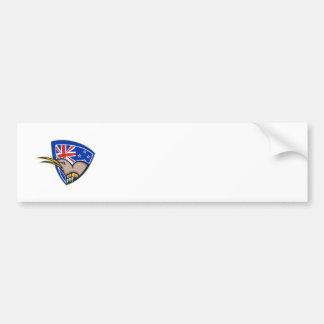 Escudo de la bandera de Nueva Zelanda del pájaro d Pegatina Para Coche