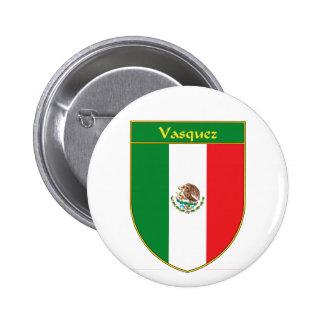 Escudo de la bandera de Vasquez México Pins