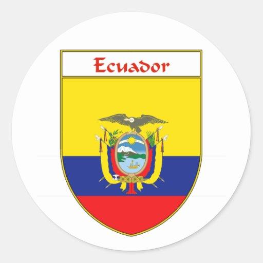 Escudo de la bandera del Ecuadorian Etiqueta