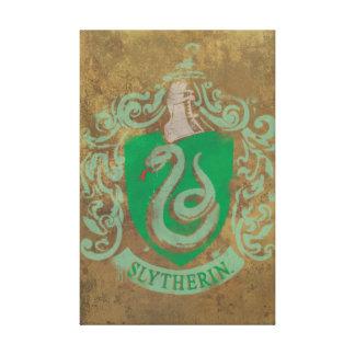 Escudo de la casa de Slytherin Impresión En Lienzo