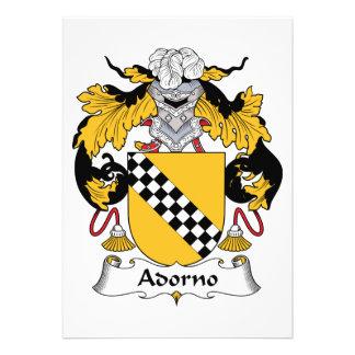 Escudo de la familia de Adorno Invitación