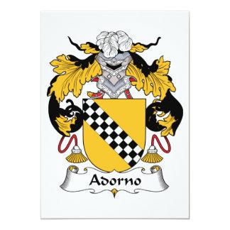 Escudo de la familia de Adorno Invitación 12,7 X 17,8 Cm