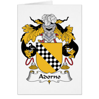 Escudo de la familia de Adorno Tarjetas